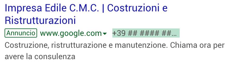 Annuncio Google Ads CMC Di Fabio Calcagno 1