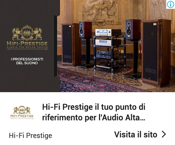 Annuncio Google Ads Hi Fi Prestige 7