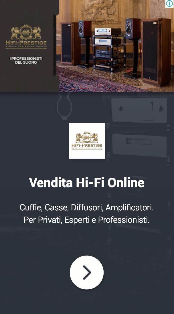 Annuncio Google Ads Hi Fi Prestige 9