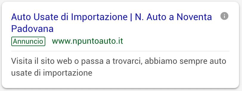 Annuncio Google Ads N Auto 1