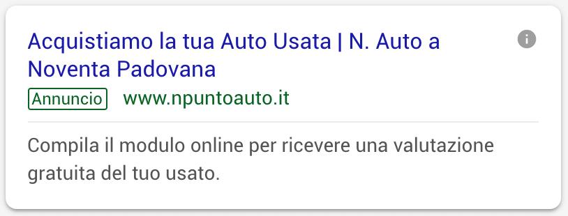 Annuncio Google Ads N Auto 2