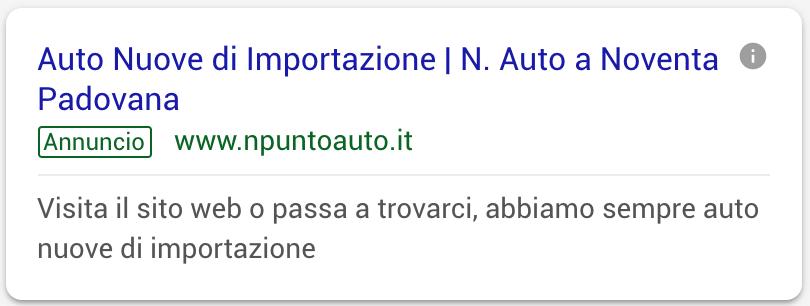 Annuncio Google Ads N Auto 3