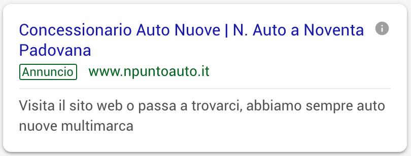 Annuncio Google Ads N Auto 5