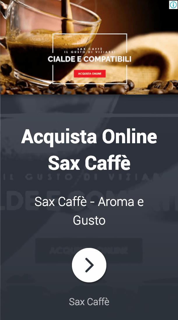 Annuncio Google Ads Sax Caffe 3