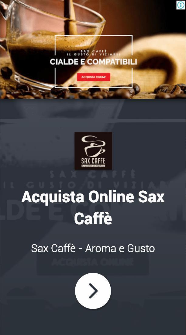 Annuncio Google Ads Sax Caffe 5
