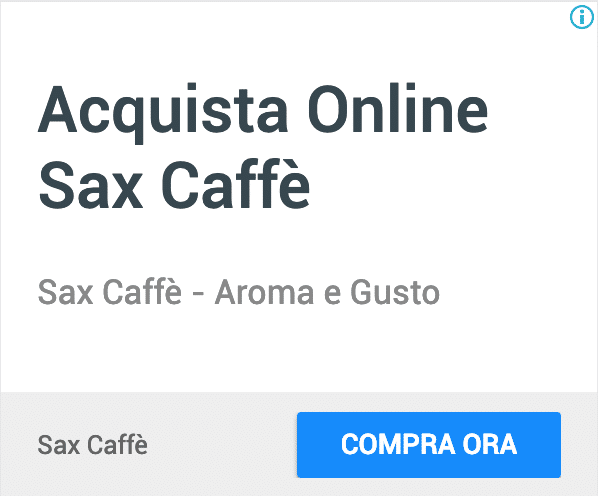 Annuncio Google Ads Sax Caffe 7