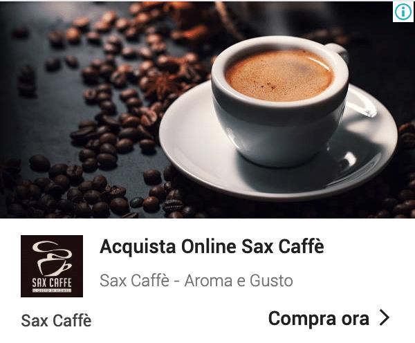 Annuncio Google Ads Sax Caffe 8