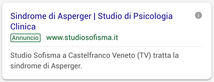 Annuncio Google Ads Studio Sofisma 4