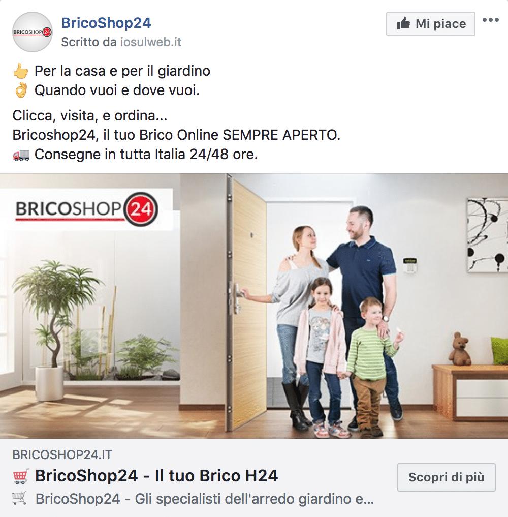 Esempio Sito EcommercePagina Facebook: BricoShop24