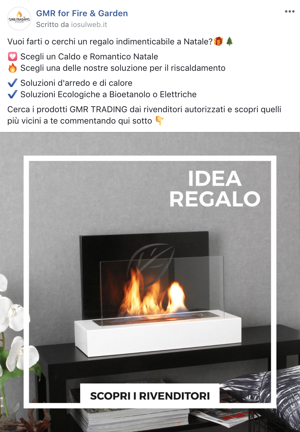 Esempio Brand AwarenessPagina Facebook: GMR for Fire & Garden