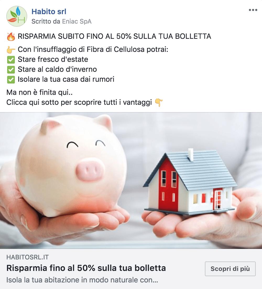 Esempio ServiziPagina Facebook: Habito srl