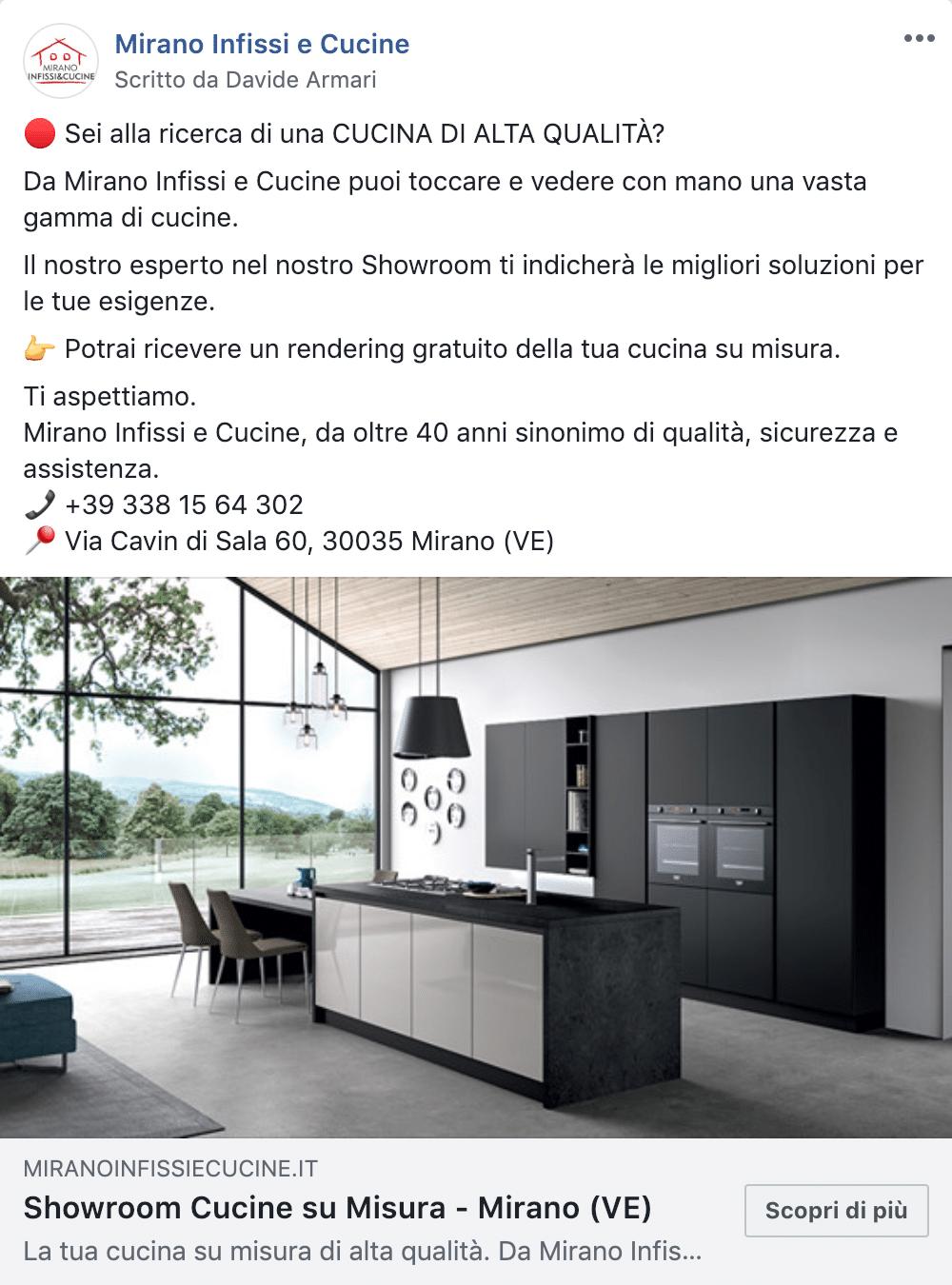 Esempio Showroom CucinePagina Facebook: Mirano Infissi e Cucine