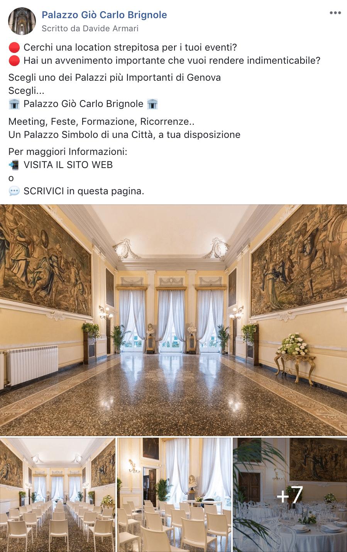 Esempio Location per EventiPagina Facebook: Palazzo Gio Carlo Brignole