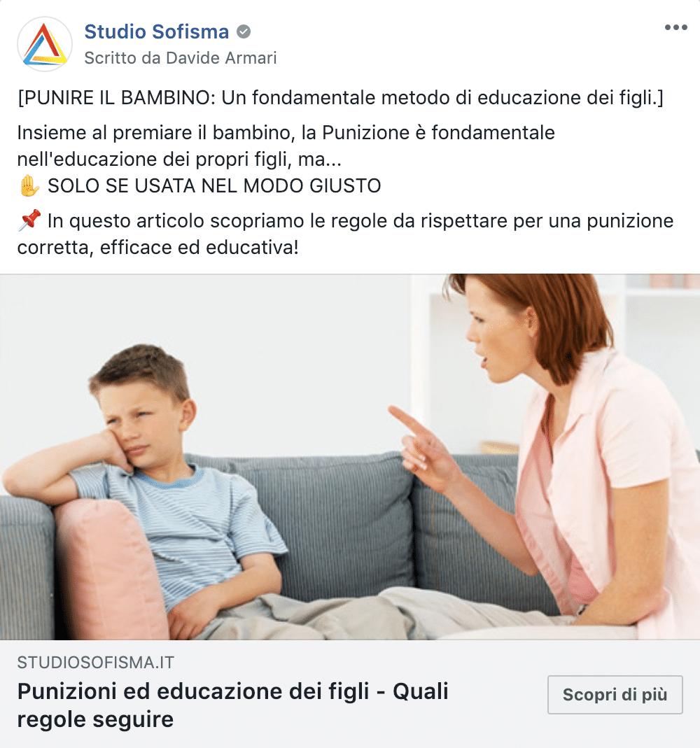 Esempio Studio PsicologiaPagina Facebook: Studio Sofisma