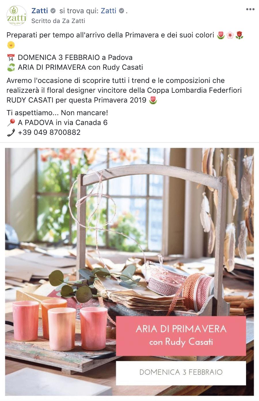 Esempio Decorazioni per l'AmbientePagina Facebook: Zatti