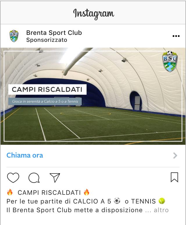 Esempio Centro SportivoProfilo Instagram: @brentasportclub
