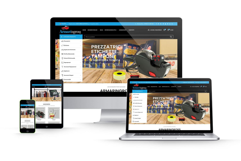 Sito Ecommerce accessori per negoziLink: www.armaringross.com