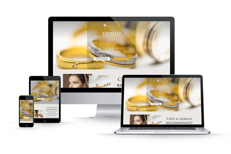 Landing Page vendita online gioielliLink: www.gioielliricondizionati.it