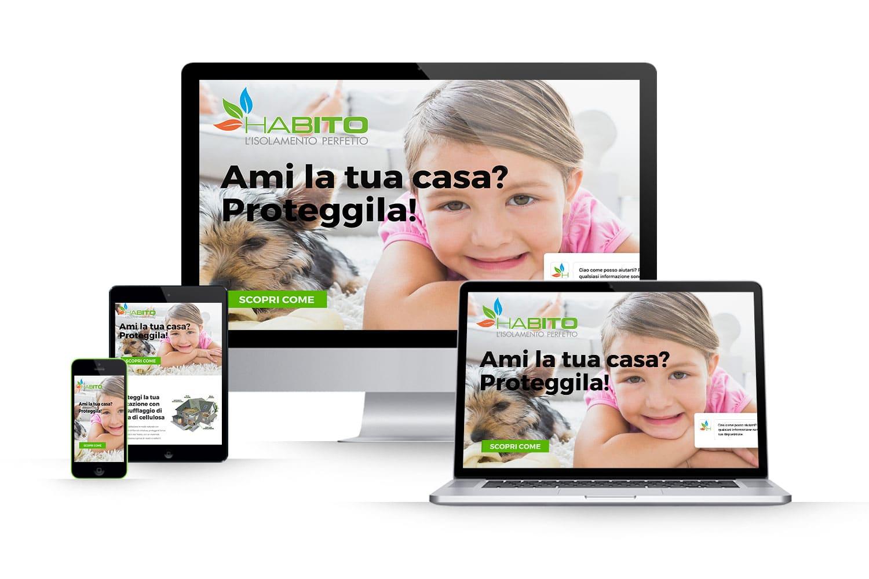 Landing Page insufflaggio fibra di cellulosaLink: www.habitosrl.it/proteggi-la-tua-abitazione/