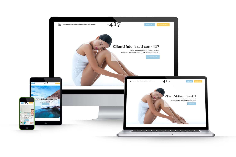 Landing Page prodotti per FarmacieLink: www.minus417.it