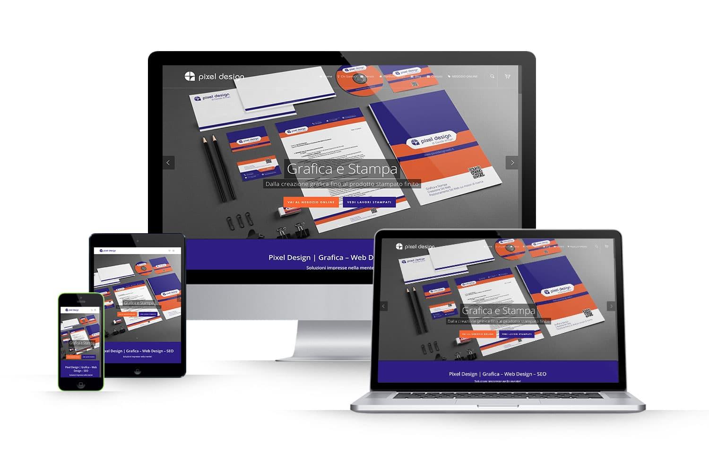 Sito Web grafica e stampaLink: www.pixeldesignweb.it