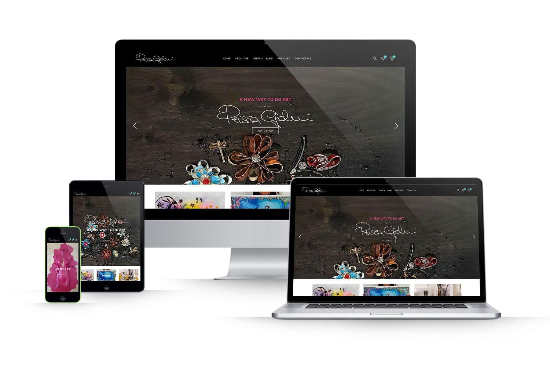 Sito Ecommerce vendita quadriLink: www.priscagoldoni.com