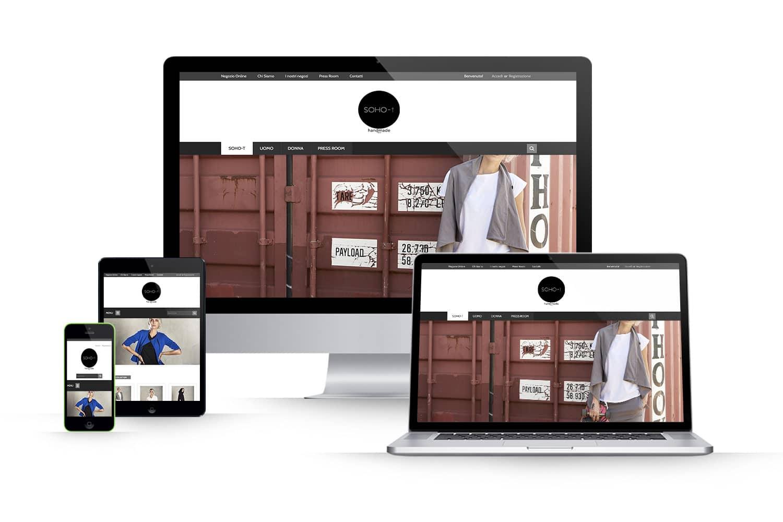 Sito Ecommerce abbigliamentoLink: www.soho-t.it