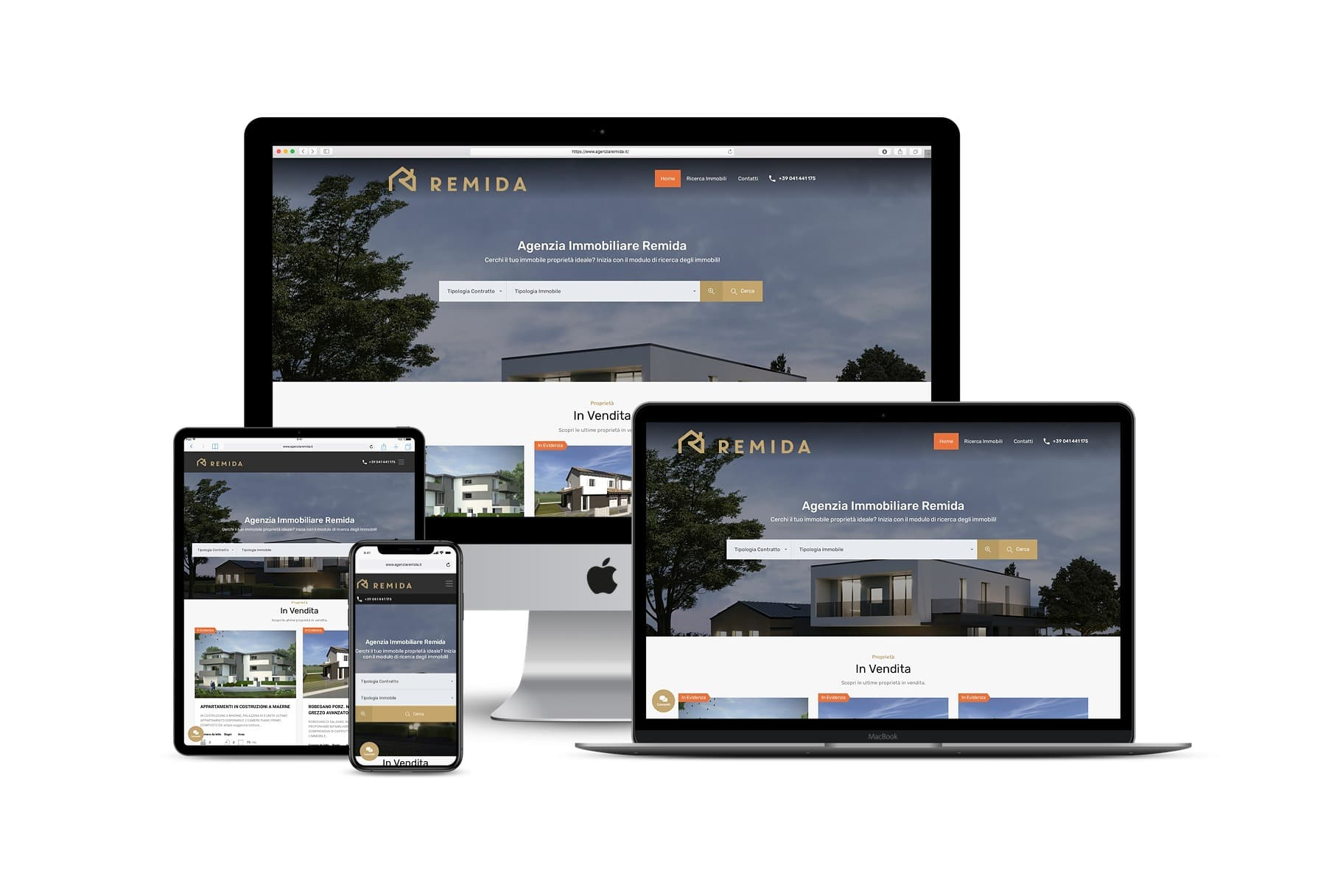 Sito Web agenzia immobiliareLink: www.agenziaremida.it
