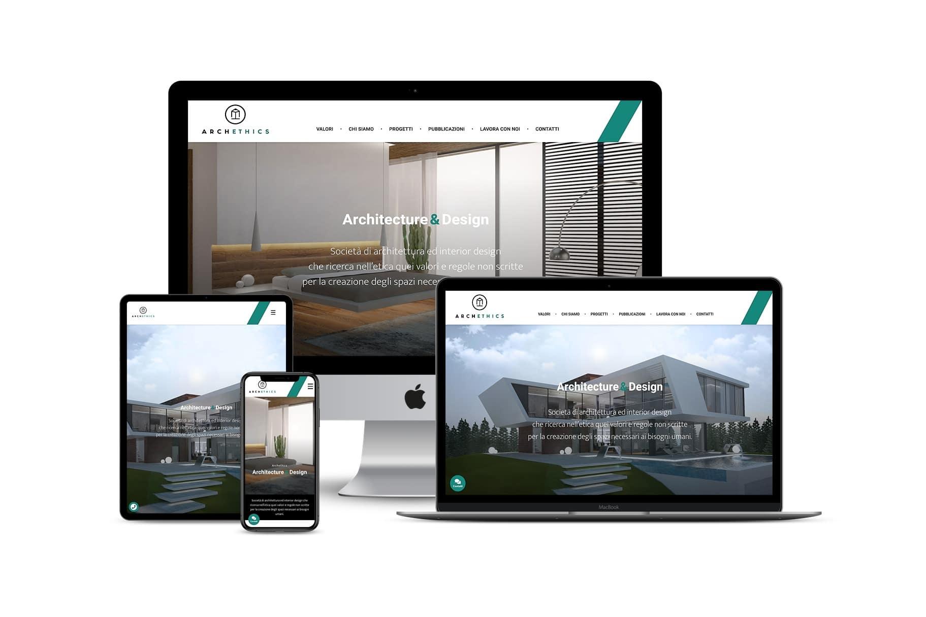 Sito Web studio architetti e Interior DesignerLink: www.archethics.com