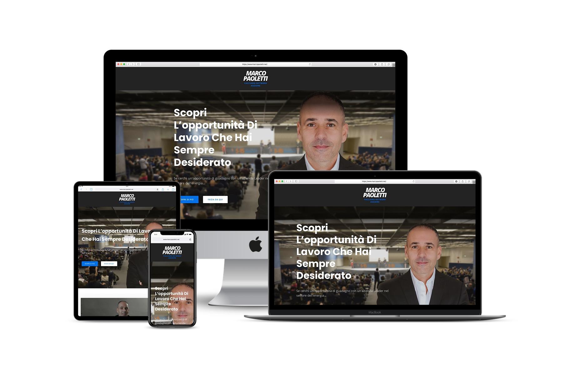 Sito Web network marketing con Funnel di MarketingLink: www.marcopaoletti.net
