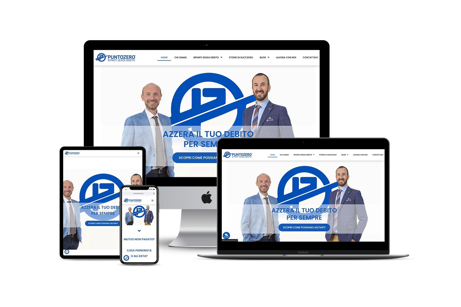 Sito Web società specializzata in cancellazione debitiLink: www.puntozero.it