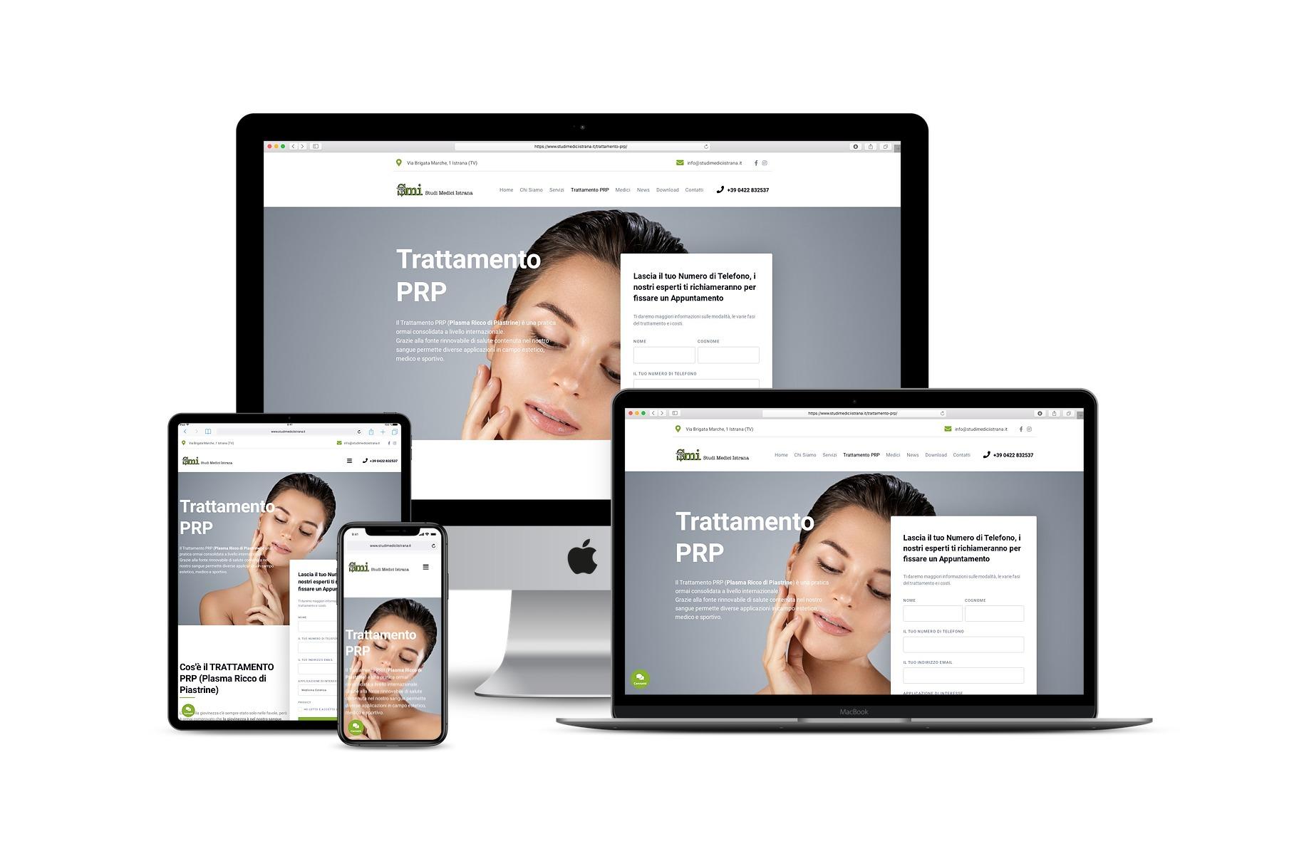 Landing Page per studio medico per uno speciale trattamentoLink: www.studimediciistrana.it/trattamento-prp